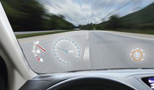 head-up display for cars