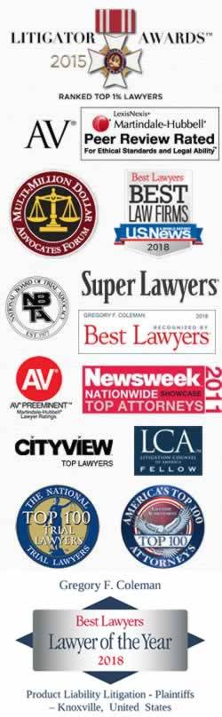 knoxville attorney awards