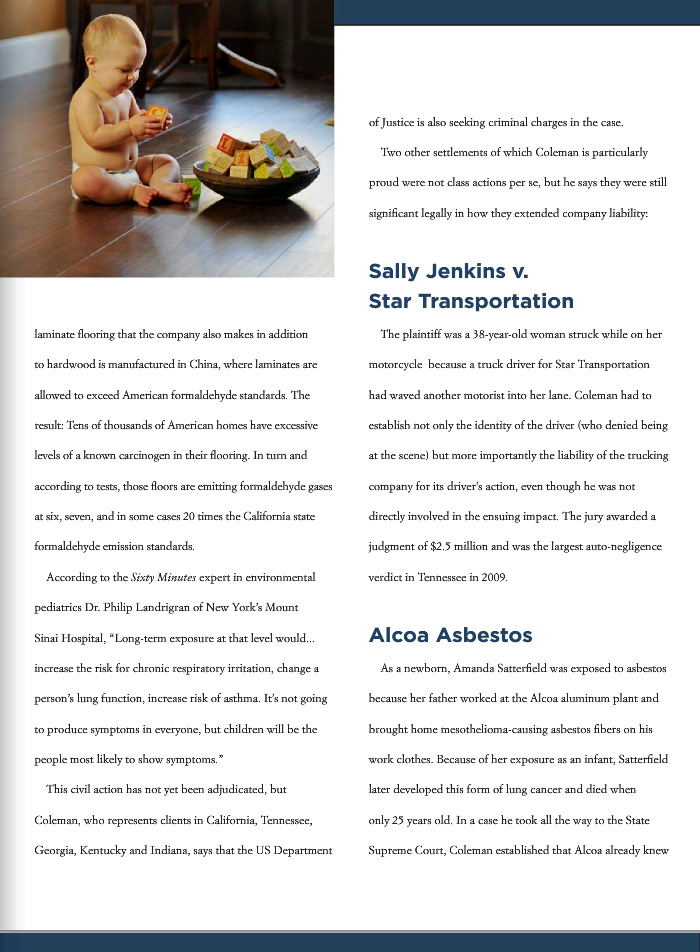 Page five of City Views Article of Greg Coleman