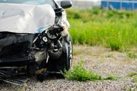 a car after an auto accident