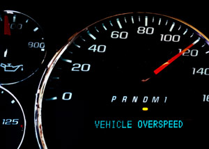 electronic speed control system alert