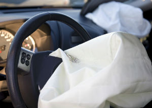 airbag deployed in car
